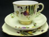 Art Deco hand painted tea trio